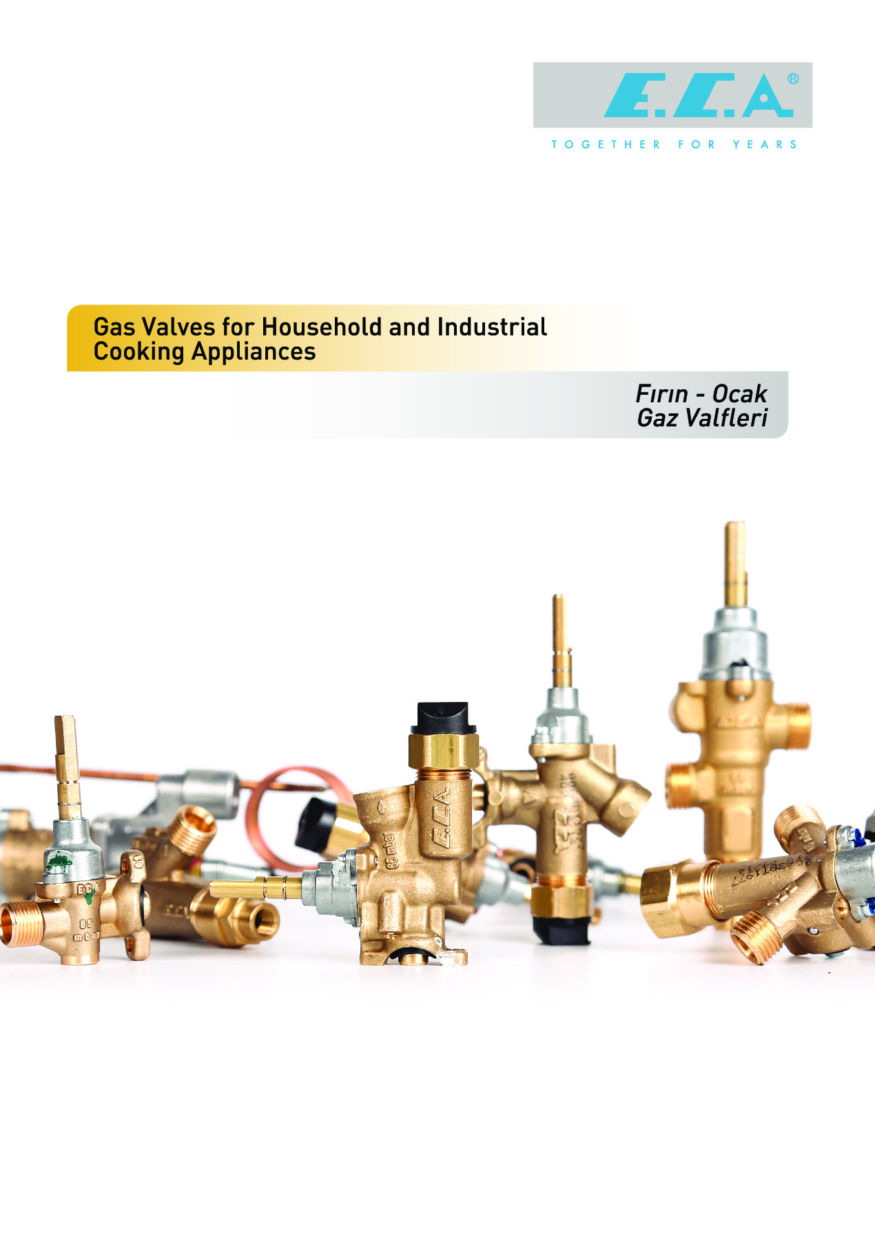 E.C.A. Gas Valves for Household and Industrial Cooking Appliances Catalogue